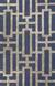 Modern geometric blue/taupe wool blend area rug, 'Urbanite' - Modern Geometric Blue/Taupe Wool Blend Area Rug thumbail