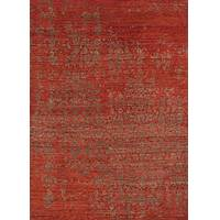 Modern abstract red/brown wool area rug, 'Viola' - Modern Abstract Red/Brown Wool Area Rug