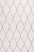 Modern geometric ivory/gray wool area rug, 'Chainlink in Cloud' - Modern Geometric Ivory/Gray Wool Area Rug thumbail