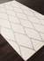 Modern geometric ivory/gray wool area rug, 'Chainlink in Cloud' - Modern Geometric Ivory/Gray Wool Area Rug (image 2c) thumbail