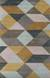 Modern geometric yellow/gray wool area rug, 'Mossy Ames' - Modern Geometric Yellow/Gray Wool Area Rug thumbail