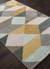 Modern geometric yellow/gray wool area rug, 'Mossy Ames' - Modern Geometric Yellow/Gray Wool Area Rug (image 2c) thumbail