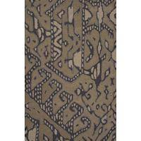 Modern tribal taupe/tan wool area rug, 'Sele' - Modern Tribal Taupe/Tan Wool Area Rug
