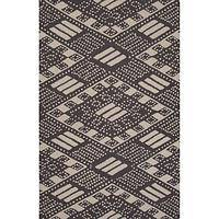 Modern tribal black wool area rug, 'Jette' - Modern Tribal Black Wool Area Rug