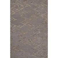 Modern tribal gray wool area rug, 'Kuda' - Modern Tribal Gray Wool Area Rug