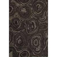 Modern abstract brown wool area rug, 'Earthen Pools' - Modern Abstract Brown Wool Area Rug