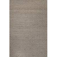 Wool and hemp area rug, 'Donna' - Artisan Crafted Rectangular Area Rug Tone-on-tone Taupe/Grey
