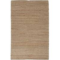 Jute blend area rug, 'Zusa' - Natural Jute and Rayon Hand Loomed Area Rug in Taupe/Ivory