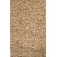 Hemp area rug, 'Marlet' - 100% Hemp Area Rug Hand Woven Solid Natural from India