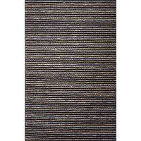 Hemp area rug, 'Collin' - Hand Woven Solid Taupe/Dark Grey Hemp Area Rug from India