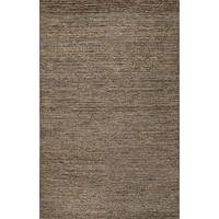 Hemp area rug, 'Nita' - Hand Woven Solid Taupe/Grey 100% Hemp Area Rug from India