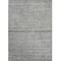 Wool and rayon blend chenille area rug, 'Ribbed Titanium' - Handloomed Solid Grey Wool and Rayon Chenille Area Rug