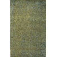 Wool and rayon chenille blend area rug, 'Oan' - Hand Woven Wool Rayon Chenille Area Rug in Solid Blue/Green