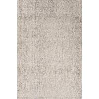 Solid ivory/gray wool area rug, 'Miste' - Solid Ivory/Gray Wool Area Rug