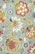 Transitional floral blue/multi wool area rug, 'Sky Medley' - Transitional Floral Light Blue/Multi Wool Area Rug thumbail