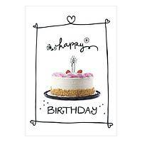 Birthday Cakes Greeting Cards - Unicef Charity Greeting Cards