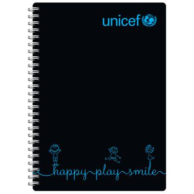 Happy, Play, Smile Notebook - Unicef School Essential Notebook