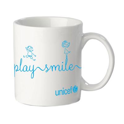 Unicef White Message Mug - High Quality Ceramic