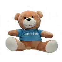 Buttons the Unicef Teddy Bear - Unicef's New Teddy Comes with His Own T-Shirt