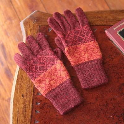 100% alpaca gloves, 'Diamond of the Andes' - Alpaca gloves