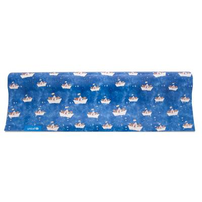 Unicef Gift Wrap - Children in Boats - Unicef Stylish Gift Wrapping Paper