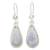Jade dangle earrings, 'Lavender Tear' - Hand Crafted Sterling Silver Lavender Jade Dangle Earrings thumbail