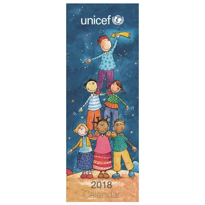 UNICEF Slim Engagement Calendar (2018) - Unicef Charity 2018 Calendar