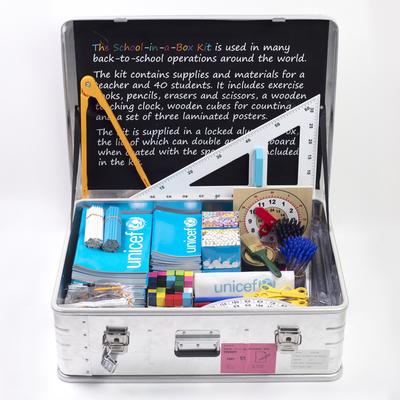 School in a box - School in box to help 40 children