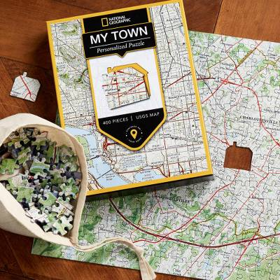 Unique Customized Jigsaw Puzzle of Map of Your Town