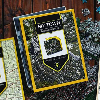 Customized Aerial View Jigsaw Puzzle of Your Town