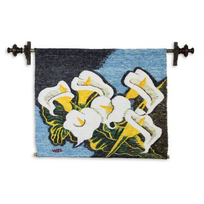 Handmade Floral Wall Hanging Tapestry