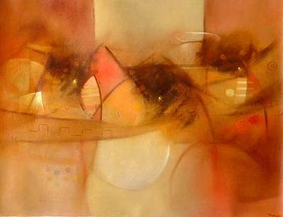 'Tucuy Ricuy -- Royal Messengers' - Peruvian Abstract Cubist Painting