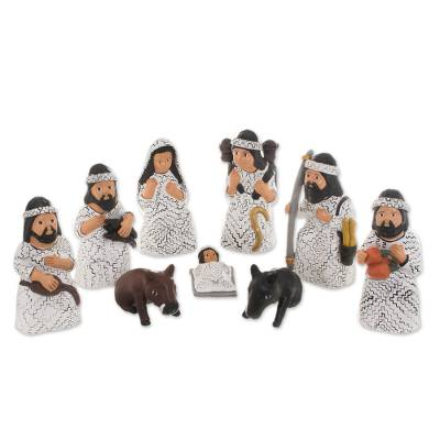Christmas Amazonian Nativity Scene Sculptures (Set of 9)