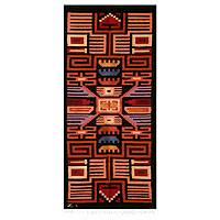 Wool tapestry, 'Nazca' - Wool tapestry