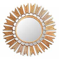 Mirror, 'Sun Princess' - Fair Trade Hollywood Glam Wall Mirror