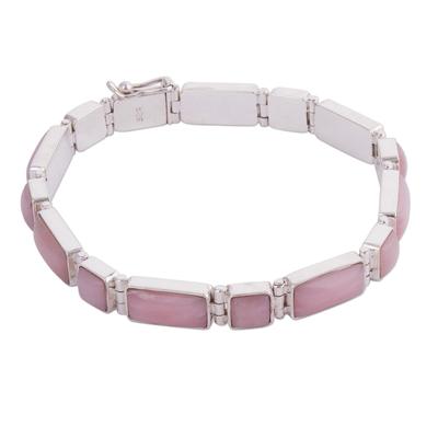 Rose quartz wristband bracelet