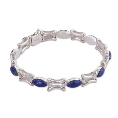 Lapis lazuli link bracelet