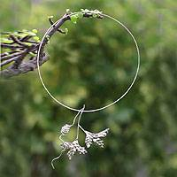 Silver choker, 'Nature's Song' - Silver Leaf Choker