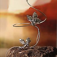 Silver wrap bracelet,