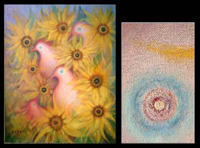 'Message of Peace' (2005) - Impressionist Oil Painting (2005)