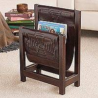 Featured review for Cedar and leather magazine rack, Leisure