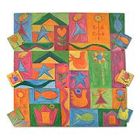 Placemats and coasters, 'Fantasy' (set for 6) - Placemats and coasters (Set for 6)