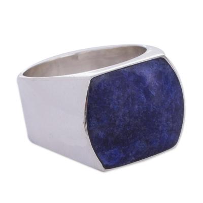 Sodalite domed ring