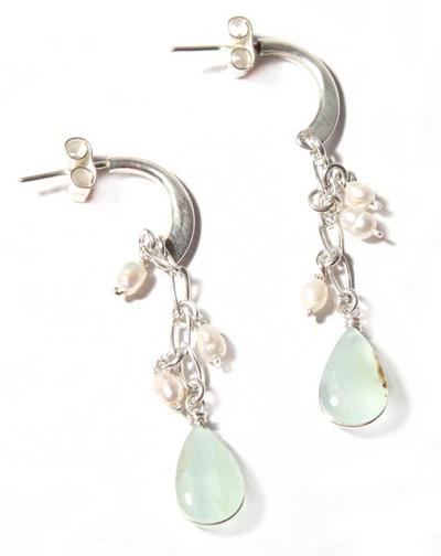 Sterling Silver and Opal Dangle Earrings