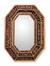 Mirror, 'Copper Lands' - Peruvian Floral Reverse Painted Glass Mirror thumbail