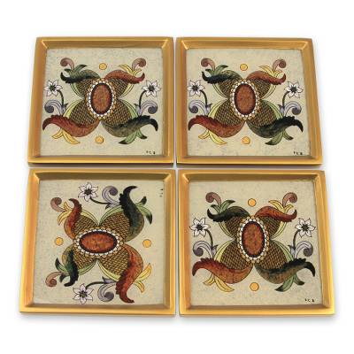 Glass coasters (Set of 4)