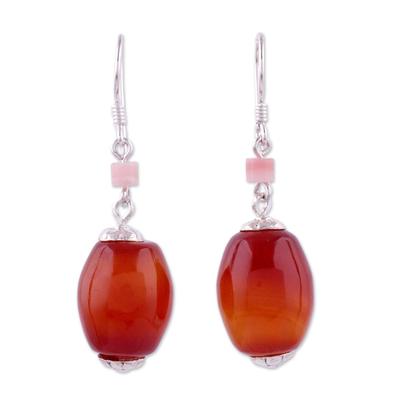 Carnelian Dangle Earrings