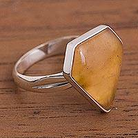 Caramel opal cocktail ring, 'Caramel' - Unique Caramel Opal Cocktail Ring
