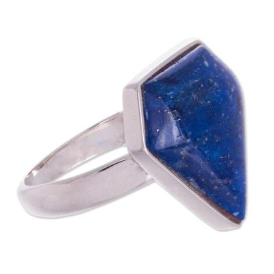Lapis Lazuli & Silver Cocktail Ring