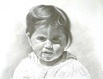 'Portrait of a Little Boy' - Original Graphite Painting Fine Art